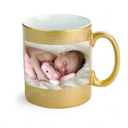 Gold coloured mug to customise