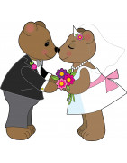 Original and new gifts for wedding, civil solidarity pact, cohabitation, union of a couple in love and wants live together.